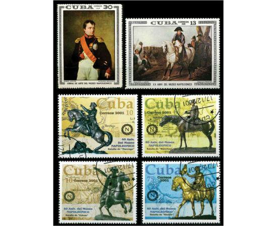 // 2x10, 13, 30, 65, 75 centavo, Cuba, 1981-2001 // - Setul de şase timbre reprezintă un omagiu adus împăratului francez de Muzeul Napoleon din Havana, unde este expusă cea mai importantă colecţie cu obiectele personale imperiale din timpul lui Napoleon I