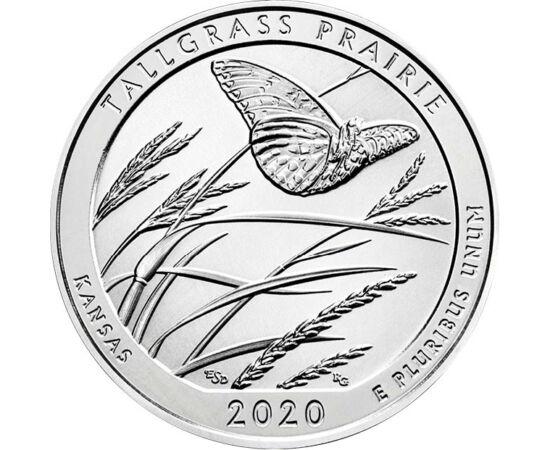 // 25 cenţi, SUA, 2020 // - Parcul naţional Tallgrass a devenit una dintre cele opt minuni din Kansas. Acest parc este un ultim bastion al zonei preriei, deoarece din iarba înaltă care a acoperit continentul nord-american în zilele noastre a rămas doar 4%