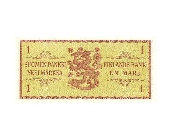 // 1 marcă, Finlanda, 1963 // - După cel de-al Doilea Război Mondial, Finlanda a figurat ca o zonă-tampon între Uniunea Sovietică şi ţările occidentale. Urmând modelul de stat occidental, ţara a fost totuşi sub ameninţarea militară sovietică. Această banc