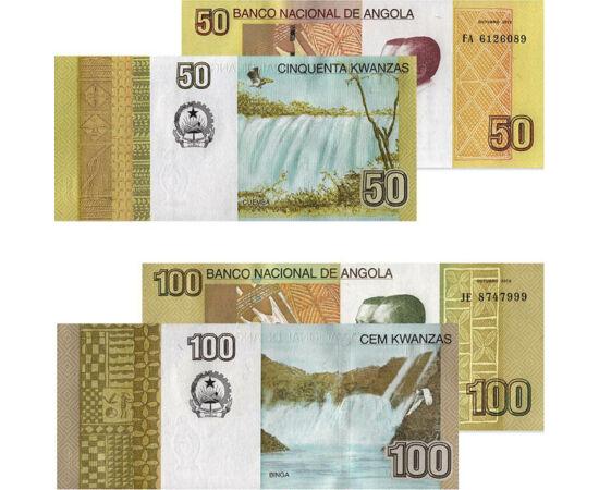 // 5, 10, 50, 100 kwanza, Angola, 2012 // - Independenţa Angolei a deschis epoca războaielor civile, cauza primară a condiţiilor precare de siguranţă publică, a preţurilor exorbitante şi a nivelului extrem de scăzut al sănătăţii publice. Un alt paradox es
