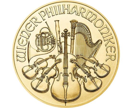 // 10 euro, aur de 999,9/1000, Austria, 2021 // - Concertul de Anul Nou al Filarmonicii din Viena a devenit o tradiţie. Fiind cel mai faimos concert din lume, în fiecare an, de 1 ianuarie este vizionat prin televiziune de milioane de oameni.Un succes al