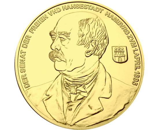 """// 10 ducaţi, replică, Imperiul German, 1895 // - Otto von Bismarck a fost Prim Ministru al Prusiei. Scopul """"Cancelarului de Fier"""" a fost ridicarea Prusiei la rangul celui mai puternic stat al Confederaţiei Germane. Moneda de 10 ducaţi a apărut la anivers"""