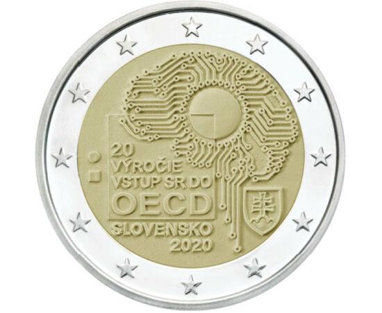 // 2 euro, Slovacia, 2020 // - Organizaţia pentru Cooperare şi Dezvoltare Economică a fost înfiinţată în 1961. Scopul respectivei organizaţii este de a oferii ajutor ţărilor membre în dezvoltarea politicilor în cadrul economiei şi afacerilor sociale. Mone