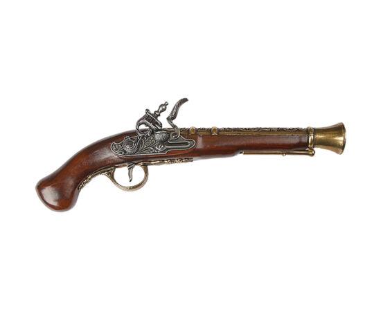 Mecanismul numit placă cu cremene a apărut în secolul al XVI-lea şi a fost utilizat în următoarele două secole, atât la pistoale, cât şi la puşti. Declanşatorul cu cremene a fost o invenţie importantă în acea vreme şi a înlocuit sistemul de aprindere cu f