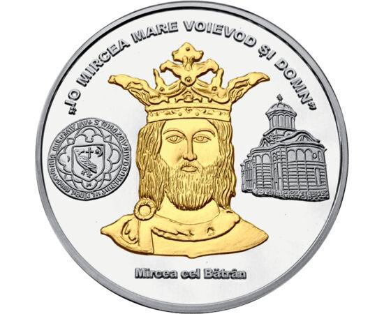 // medalie, România // - Mircea cel Bătrân a fost cel mai important conducător al Ţării Româneşti. A pus bazele dezvoltării vieţii economice, s-a preocupat de exploatarea bogăţiilor subsolului şi a bătut mai multe emisiuni monetare. Cea mai mare ctitorie
