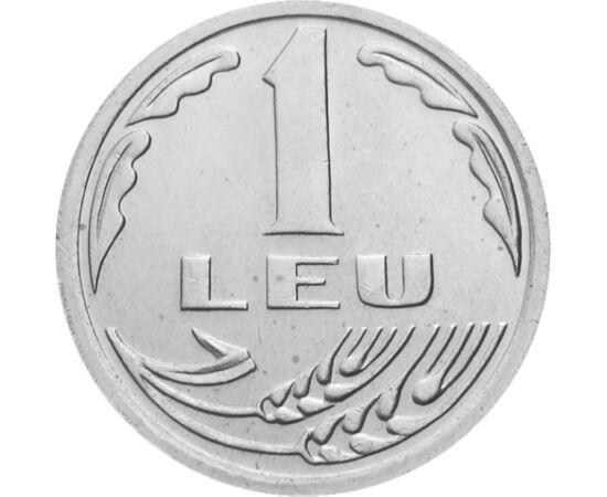 // 1 leu, România, 1992 // - Banca Naţională a României este singura instituţie care emite moneda noastră naţională, leul. Moneda de 1 leu emisă în 1992, este singura monedă în circulaţie emisă cu sigla BNR.