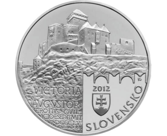 // 20 euro, argint de 925/1000, Slovacia, 2012 // - Castelul Trencin este cel mai vechi castel din Slovacia. Se datează din secolul al XIII-lea, când a fost reşedinţa magnatului Matei Csák. Castelul era o adevărată fortăreaţă, cu un turn înalt, de peste 5