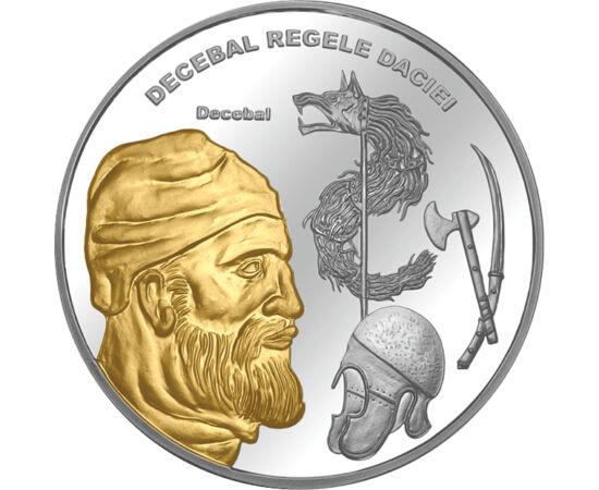// medalie, România,  // - Decebal a fost ultimul rege al Daciei între anii 85-106. A purtat războaie împotriva expansiunii romane, dar după victoria romanilor din 89, a încheiat o pace favorabilă dacilor şi era numit client al Romei, iar regatul său, reg