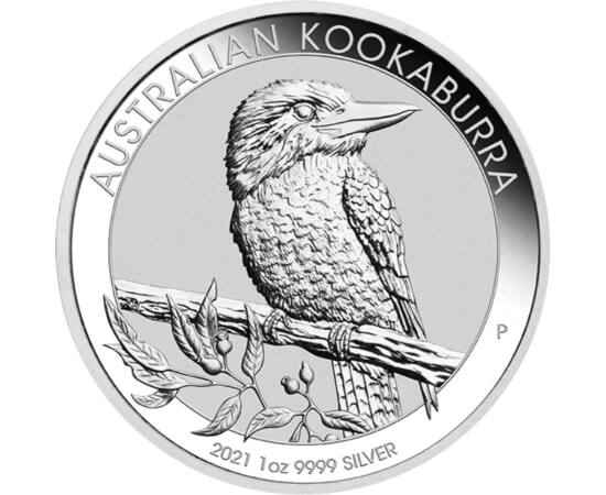 1 dolar, Kookaburra 1 unc Ag, 2021 Australia