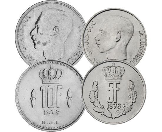 // 25 centim, 1,5,10 franci, Luxemburg, 1964-1984 // - Marele Duce Jean a guvernat Luxemburgul în timpul Războiului Rece. A fost extrem de popular în ţara sa şi în străinătate. Preşedintele francez, Georges Pompidou, a declarat că, dacă Europa va alege un