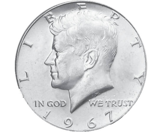 1/2 dolar, Kennedy, argint SUA