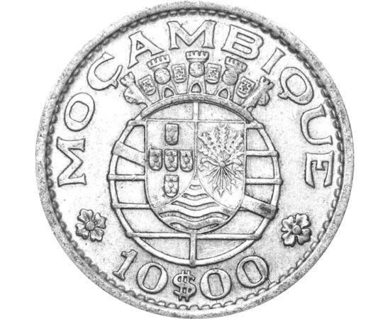 // 10 escudo, argint de 720/1000, Mozambic, 1952-1960 // - Mozambic a fost descoperit de către Vasco da Gama în 1498, iar din anul 1752 era colonie portugheză. Pe coastă au trăit, din secolul al X-lea, arabii, care au făcut comerţ cu aur şi cu sclavi. În