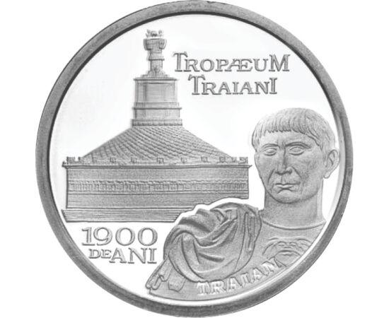 // 10 lei, argint de 999/1000, România, 2009 // - La aniversarea a 1900 de ani de la construirea monumentului Adamclisi, BNR a emis o monedă de argint pur. Monumentul triumfal a fost construit de împăratul Traian în memoria celei mai mari bătălii a primul