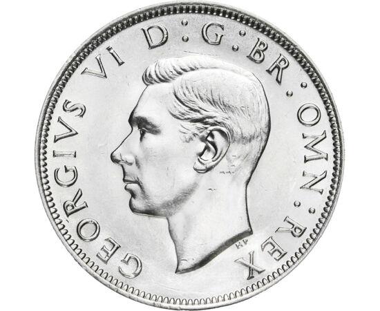 0,5 crown, George VI, Ag, 1937-1946 Marea Britanie