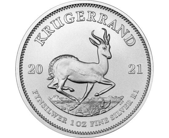 1 rand, Krugerrand, Ag,2021 Republica Africa de Sud