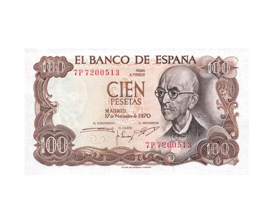 100 peseta, bancnotă, 1970 Spania