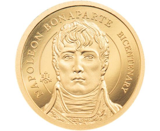 2 lire, Napoleon, Au, 2021 Insula Sfânta Ilona