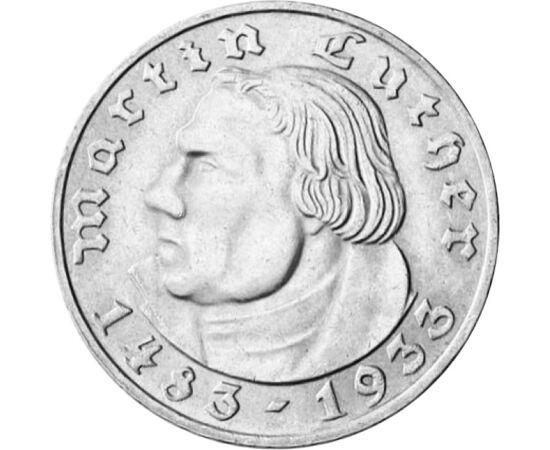 2 mărci imp,Martin Luther,Ag,1933 Germania