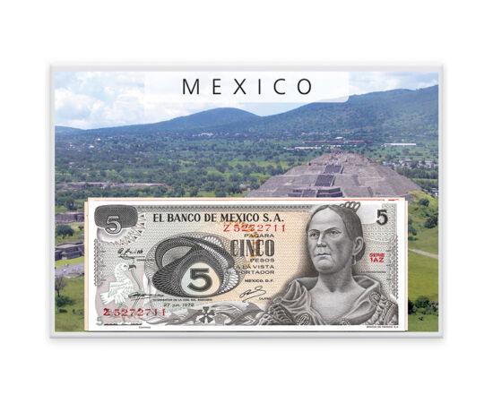 5,10,20,50,100,500,1000peso,1969-85 Mexic