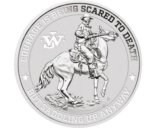 John Wayne, 1 dolar, argint, Tuvalu, 2021