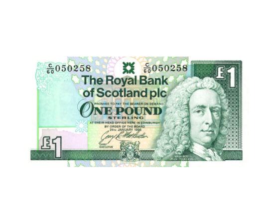 Un lord fondator scoţian, 1 liră sterlină, Scoţia, 1992-1997