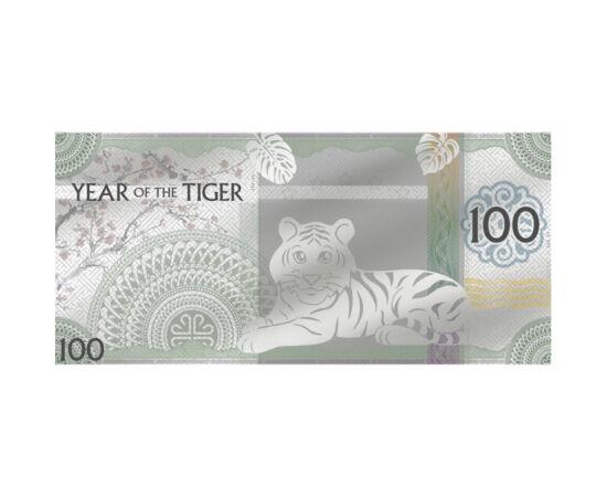 Bancnotă din argint pur, 100 togrog, argint, Mongolia, 2022