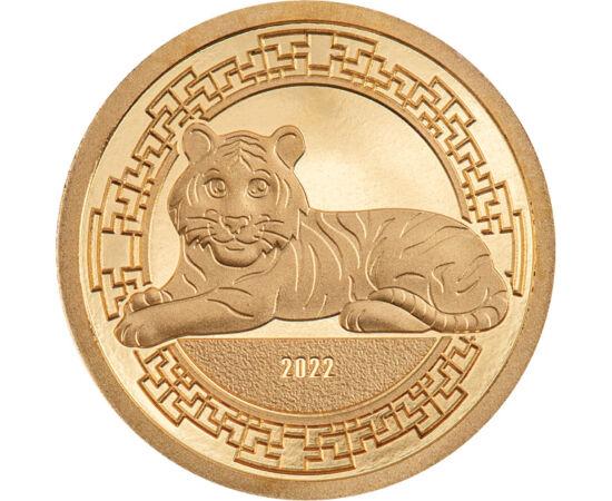 Anul Tigrului pe aur pur, 1000 togrog, aur, Mongolia, 2022