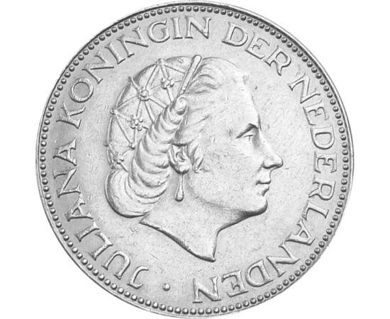 Regina Juliana , 2 1/2 guldeni, argint, Olanda, 1959-1966