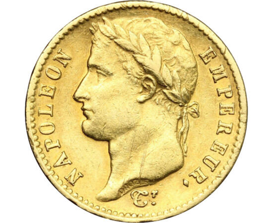 Aurul lui Napoleon, 20 franci, aur, Franţa, 1807-1815