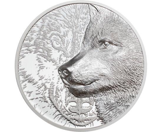 Lupul, adorat în mitologie, 500 togrog, argint, Mongolia, 2021