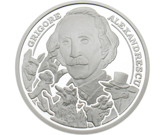 Grigore Alexandrescu, 10 lei, argint, România, 2010