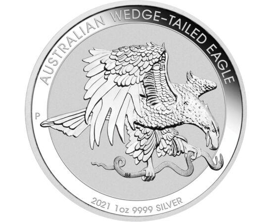 1 dolar, Vulturul cu coadă-pană, , greutate, argint de 999,9/1000, 31,1 g, Australia, 2021