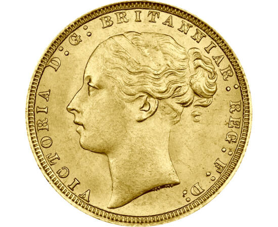 1 sov.,Victoria,portret tinereţe,aur, Marea Britanie