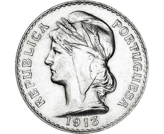 50 centavo, Femeie Ag, 1912-1916, Portugalia