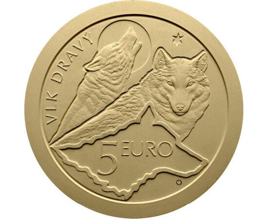 5 euro, Trei lupi, harta Slovaciei, stemă, , cupru, nichel, 19,1 g, Slovacia, 2021