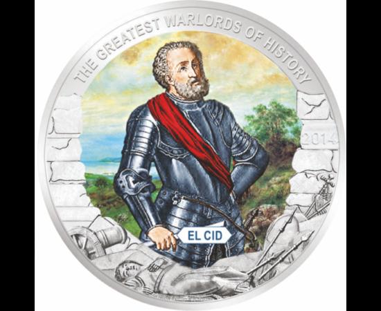 // 1 dolar, Palau, 2014 // - Rodrigo Diaz de Vivar, cunoscut ca şi El Cid, a fost eroul naţional al Spaniei, datorită vitejiei sale din lupta împotriva Maurilor.