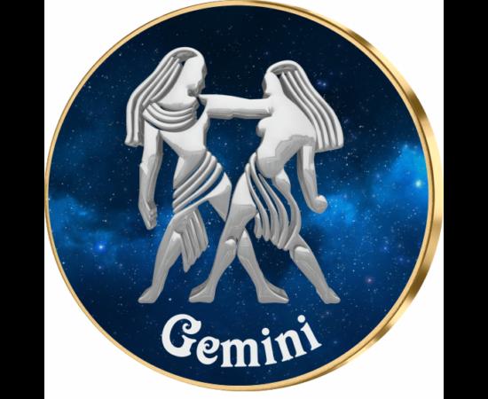 Gemeni ,medalie zodiac, ambalată exclusiv