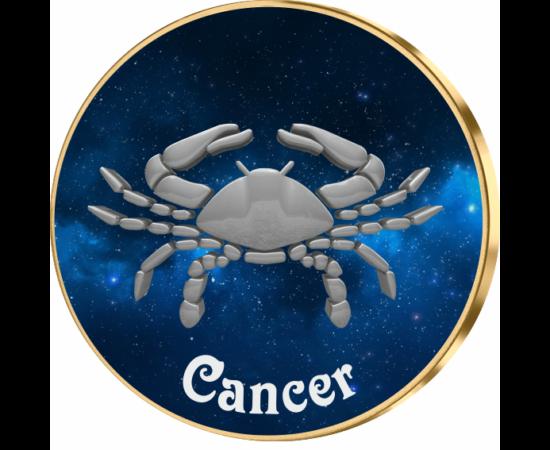 Rac, medalie zodiac, ambalată exclusiv