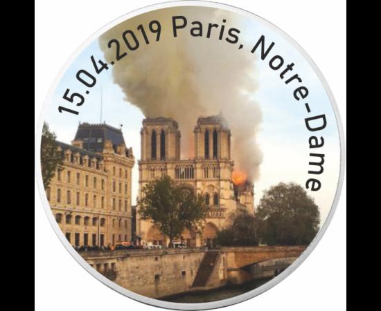 Tragedia de la Catedrala Notre-Dame, 10 euro, argint