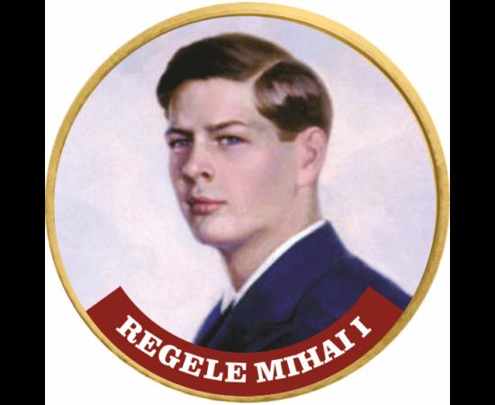 // 50 cenţi, Regele Mihai I, monedă, CuNi, UE, 2002-2019 // Mihai I a fost ultimul monarh al Regatului Român. A urcat pe tron la vârsta de şase ani, ulterior a fost înlocuit de tatăl său, Carol al II-lea. În anul 1940 a revenit la tron şi a fost rege până