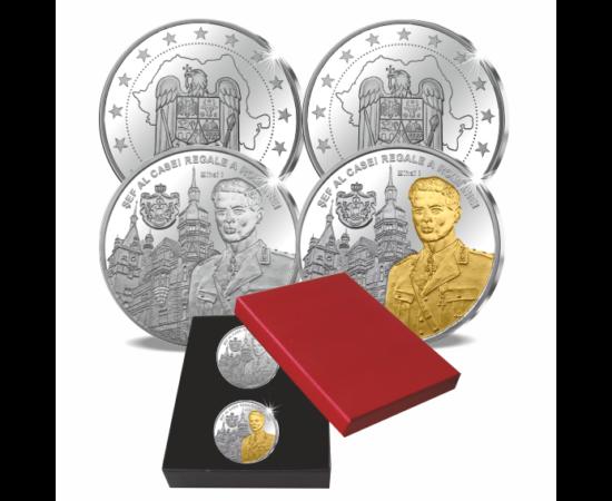 // medalii, calitatea proof, Regele Mihai I, placat cu aur şi argint, România,  // Mihai I a fost ultimul monarh al Regatului Român. A urcat pe tron la vârsta de şase ani, ulterior a fost înlocuit de tatăl său, Carol al II-lea. În anul 1940 a revenit la t