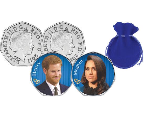 // 50 pence, Marea Britanie, 2012 // Meghan Markle şi prinţul Harry s-au căsătorit pe 19 mai 2018. Au trecut numai doi ani şi au luat decizia de a se retrage din casa regală. Ultima lor apariţie publică a fost la data de 9 martie, iar la sfârşitul lunii m