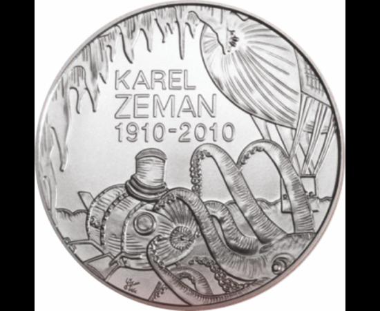 // 200 coroane, Karel Zeman, argint de 900/1000, Cehia, 2010 // În 2010, Banca Naţională a Cehiei a adus un omagiu regizorului Karel Zeman, cu ocazia împlinirii a 100 de ani de la naşterea sa. Ca un adolescent cu spirit de aventură, regizorul a fost pasio