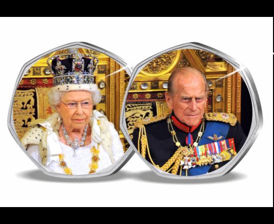 Rămas bun de la prinţul Philip, 2x50 pence, Marea Britanie