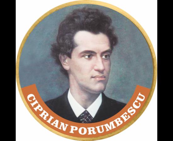 """// 50 cenţi, Ciprian Porumbescu, monedă, CuNi, UE, 2002-2019 // Ciprian Porumbescu, unul din cei mai faimoşi compozitori români, s-a născut pe 14 octombrie 1853. A fost creatorul primei operete româneşti – """"Crai nou"""". În 1880 a compus minunata """"Baladă pen"""