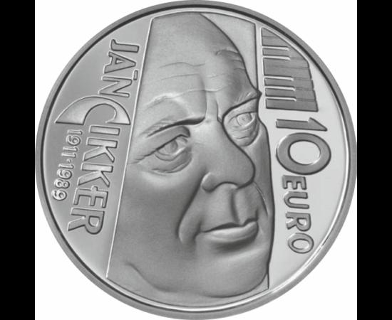 // 10 euro, argint de 900/1000, Slovacia, 2011 // - Ján Cikker a fost un compozitor slovac, un renumit exponent al muzicii clasice moderne. Consilier repertoriu al operei Teatrului Naţional Slovac, mai la urmă, profesor al multor compozitori slovaci.A pri