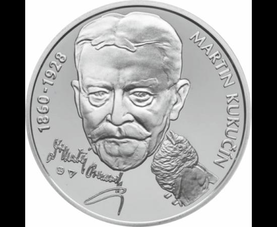 // 10 euro, argint de 900/1000, Slovacia, 2010 // - Martin Kukučín a fost un scriitor slovac, care pus accentul pe componenţa lingvistică a limbii slovace.A creat o linie progresivă de proză slovacă, fiind influenţat de convenţiile literaturii sentimental