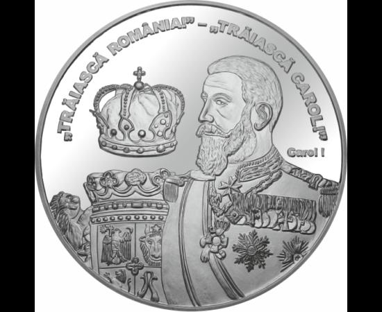// medalie placată cu argint, Regele Carol I, calitate proof, România,  // Carol I a fost domnitorul ţării din 10 mai 1866. În cei 48 de ani de domnie ai lui, au fost mari schimbări în viaţa statului român. A obţinut independenţa ţării, a redresat economi