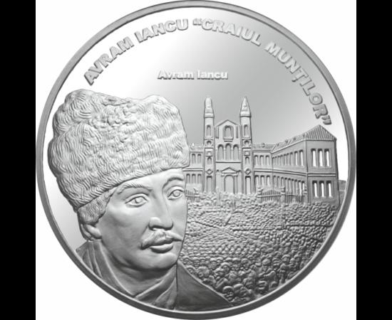 // medalie placată cu argint, Avram Iancu, calitate proof, România,  // Avram Iancu a rămas în istorie ca un simbol al jertfei pentru libertate. A jucat un rol important în Revoluţia de la 1848, a luptat pentru abolirea iobăgiei în rândul moţilor şi a ţăr