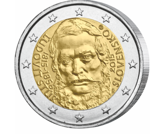 2 euro, Ľudovít Štúr, ,2015 Slovacia